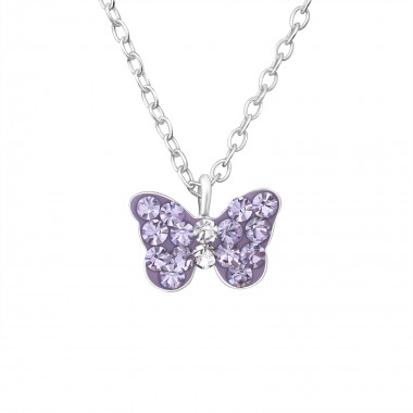 Butterfly - 925 Sterling Silver Kids Necklaces SD21928