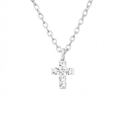 Cross - 925 Sterling Silver Kids Necklaces SD22112