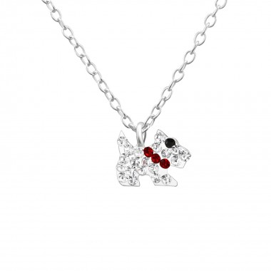 Dog - 925 Sterling Silver Kids Necklaces SD22322