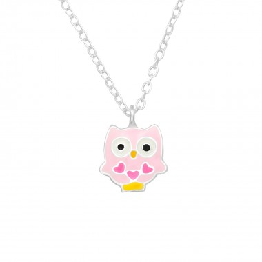 Owl - 925 Sterling Silver Kids Necklaces SD23381