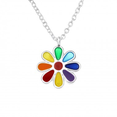 Flower - 925 Sterling Silver Kids Necklaces SD24349