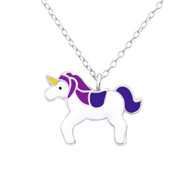 Unicorn - 925 Sterling Silver Kids Necklaces SD24418