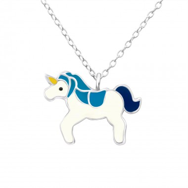 Unicorn - 925 Sterling Silver Kids Necklaces SD24419