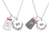 Salt And Pepper Best Friends Necklace Set - 925 Sterling Silver Kids Necklaces SD30447