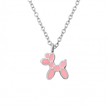 Dog - 925 Sterling Silver Kids Necklaces SD36356