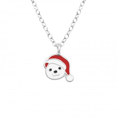 Bear - 925 Sterling Silver Kids Necklaces SD36497