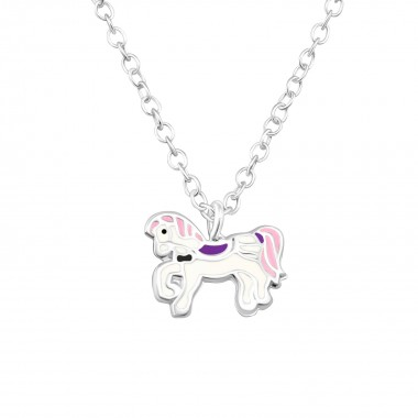 Pony - 925 Sterling Silver Kids Necklaces SD37993