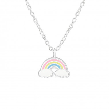 Rainbow - 925 Sterling Silver Kids Necklaces SD38635
