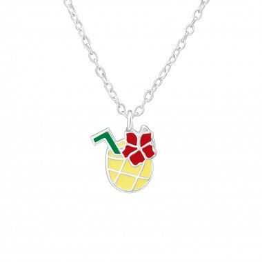 Pineapple Juice - 925 Sterling Silver Kids Necklaces SD38636