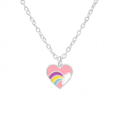 Heart - 925 Sterling Silver Kids Necklaces SD38872