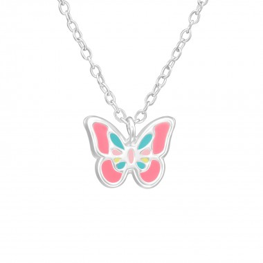 Butterfly - 925 Sterling Silver Kids Necklaces SD39295