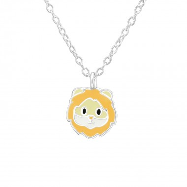 Lion - 925 Sterling Silver Kids Necklaces SD39296