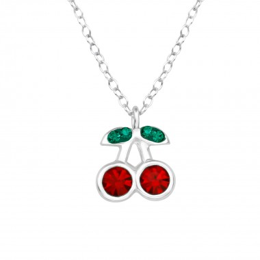 Cherry - 925 Sterling Silver Kids Necklaces SD39446