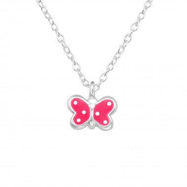 Butterfly - 925 Sterling Silver Kids Necklaces SD40443