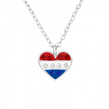 Heart - 925 Sterling Silver Kids Necklaces SD42192