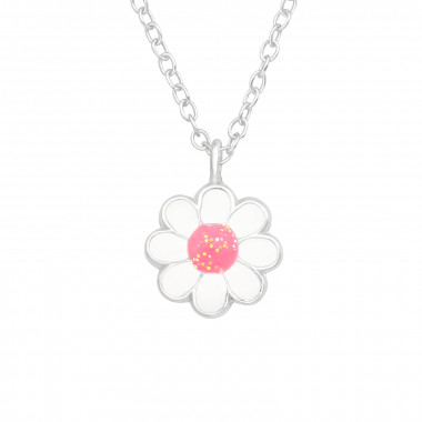 Flower - 925 Sterling Silver Kids Necklaces SD42540