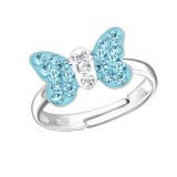 Butterfly - 925 Sterling Silver Kids Rings SD22262