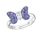 Butterfly - 925 Sterling Silver Kids Rings SD28180
