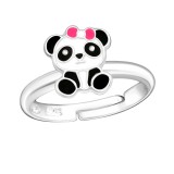 Panda - 925 Sterling Silver Kids Rings SD28183