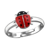 Ladybug - 925 Sterling Silver Kids Rings SD32463