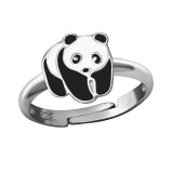 Panda - 925 Sterling Silver Kids Rings SD36324