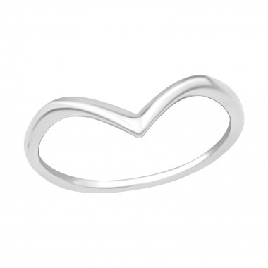 V Shaped - 925 Sterling Silver Kids Rings SD40280