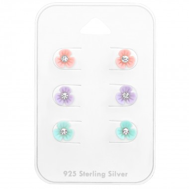 Flower - 925 Sterling Silver Kids Jewelry Sets SD38456
