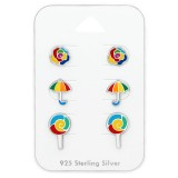 Colorful - 925 Sterling Silver Kids Jewelry Sets SD38723