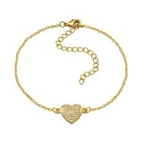Heart - Cubic Zirconia Bracelets & Necklaces SD34290