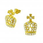 Crown - Brass Earrings & Studs SD2411
