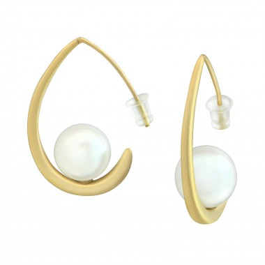 Curved - Alloy Earrings &am...
