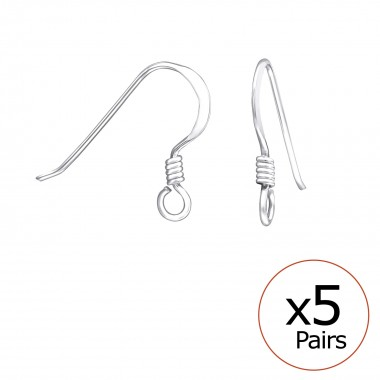 Fish Hook - 925 Sterling Si...