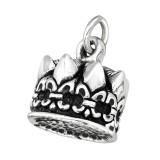 Electroform Crown Pendant - 925 Sterling Silver Silver Heavy SD38959