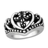 Electroform Heart Ring - 925 Sterling Silver Silver Heavy SD38961