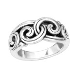 Wave - 925 Sterling Silver Silver Heavy SD39098