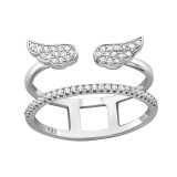 Wing - 925 Sterling Silver Silver Heavy SD39900