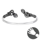 Snake - 925 Sterling Silver Silver Heavy SD39905