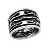 Wave - 925 Sterling Silver Silver Heavy SD39921