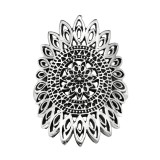 Flower - 925 Sterling Silver Silver Heavy SD40636