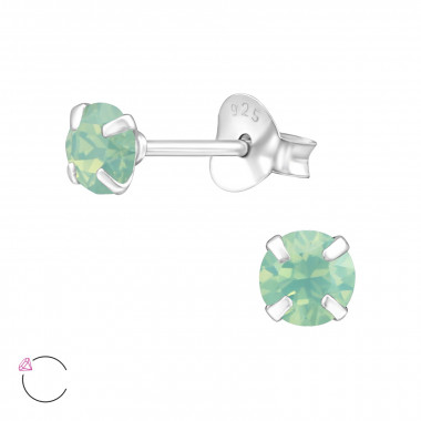 Round - 925 Sterling Silver La Crystale Studs SD24392