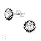 Round - 925 Sterling Silver La Crystale Studs SD32916