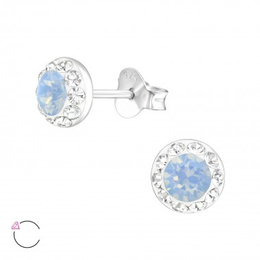 Round - 925 Sterling Silver La Crystale Studs SD39024