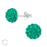 Round - 925 Sterling Silver La Crystale Studs SD41109