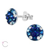 Round - 925 Sterling Silver La Crystale Studs SD41135