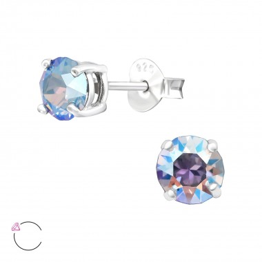 Round 5mm - 925 Sterling Silver La Crystale Studs SD42017