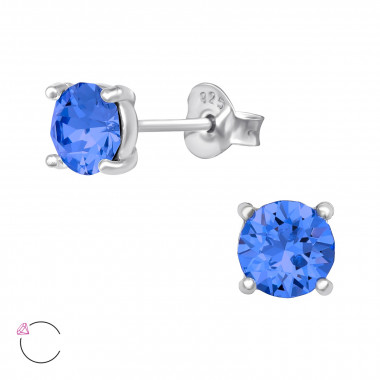 Round - 925 Sterling Silver La Crystale Studs SD42182