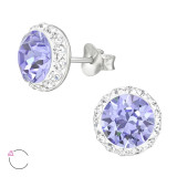 Round - 925 Sterling Silver La Crystale Studs SD42186