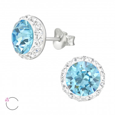 Round - 925 Sterling Silver La Crystale Studs SD42187