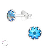 Round - 925 Sterling Silver La Crystale Studs SD42398
