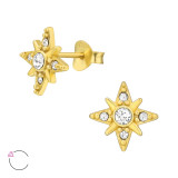 Northern Star - 925 Sterling Silver La Crystale Studs SD42502